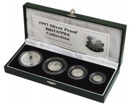 1997 Silver Proof Britannia 4 Coin Set for sale